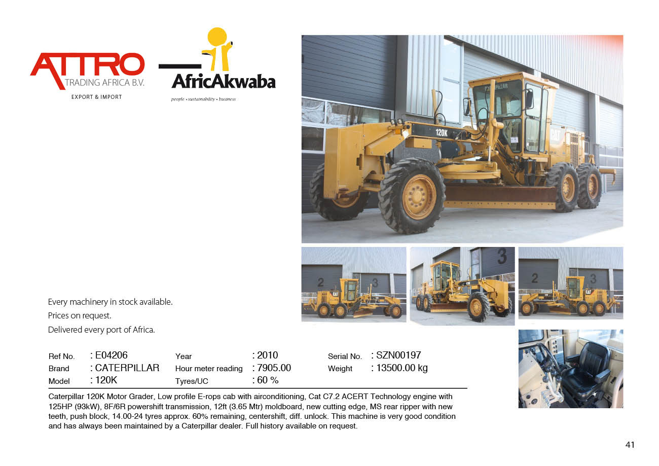 Attro Trading BV | Crushers & Mining Equipment, Earthmoving and Road